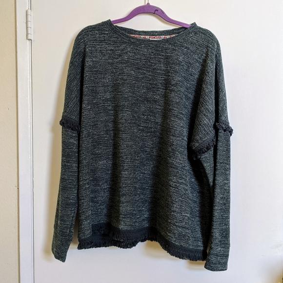 Knox Rose Sweaters - 🏔Boho fringe sweatshirt forest green sz xl